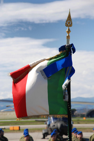 Italian flag of the regiment