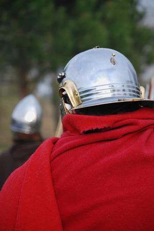 Roman legionary soldier with helmet