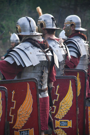 Roman imperial army soldiers
