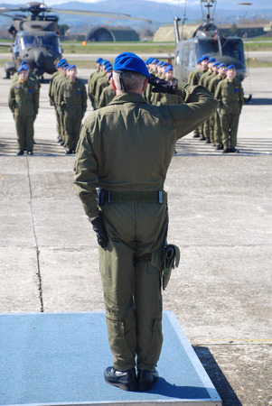 Italian army official salute