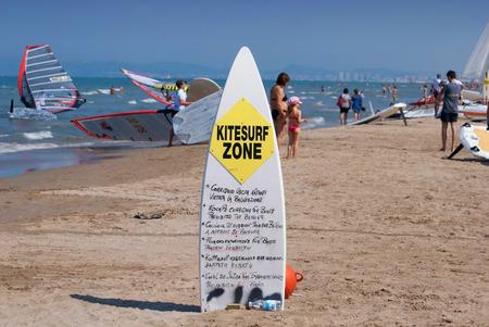 windsurf zone yellow sign