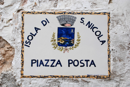 home made ceramic street sign st nicholas Icelandic italy