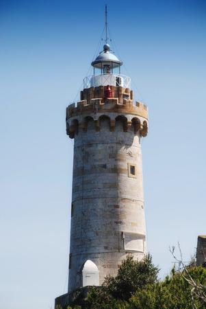 Elba island lighthouse Stock Photo
