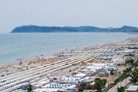 Riccione adriatic coast panorama south