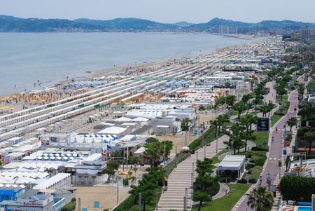 Riccione adriatic coast panorama and promenade Stock Photo