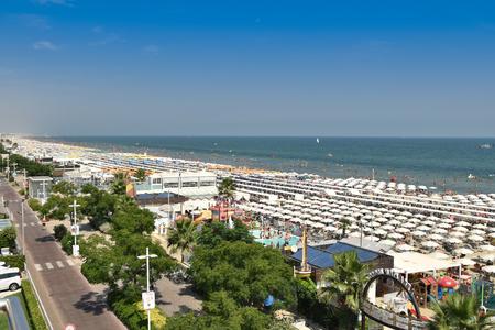Riccione view of the north beach Italy Editorial