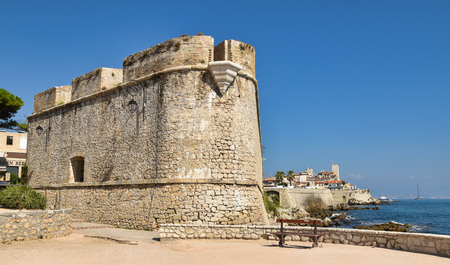 Antibes c?te dazur antique fort in the defense of the city