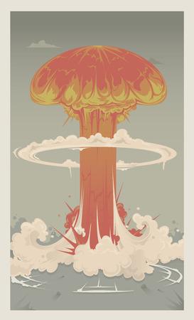 Un champignon gigantesque nuage d'une bombe nucléaire