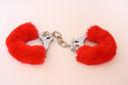 cuffs: fluffy cuffs Stock Photo