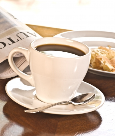 coffeebreak: coffeebreak with newspaper Stock Photo