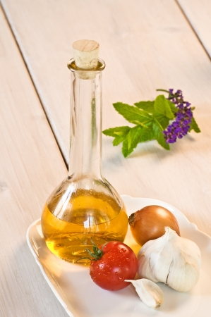 cooking oil: cooking oil and tomato