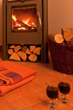 fireplaces: fireplace with hot wine