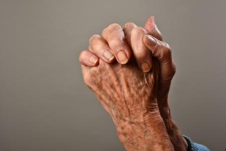 god s hand: old praying hands