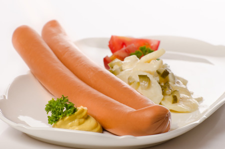 potato salad: sausages with potato salad is a tradition in Germany