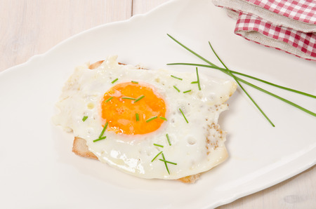 fried eggs as a small meal photo