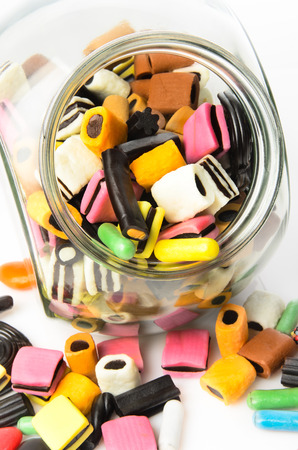 licorice: candy in a glass,sweet licorice Stock Photo