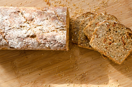 breadbasket: bread, even baked bread full value Stock Photo