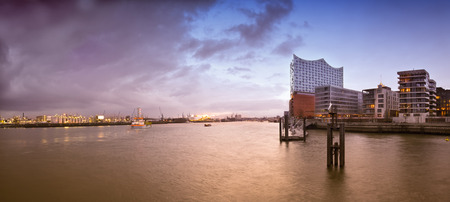 hafencity Hamburg, elbe, and finished Elbphilharmonie Concert Hall in the evening