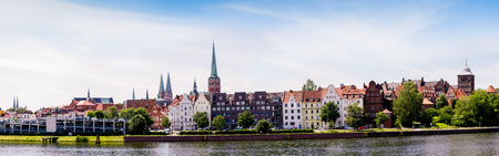 Luebeck, cityscape seen from the east