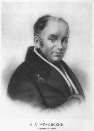 critic: Vasily Andreyevich Zhukovsky. Russian poet, one of the founders of the Romanticism in Russian poetry, translator and critic. 1783 - 1852 Editorial