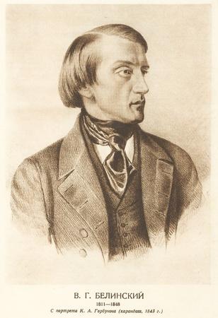 critic:  Vissarion Belinsky 1811-1848 - Russian writer, literary critic, essayist, philosopher