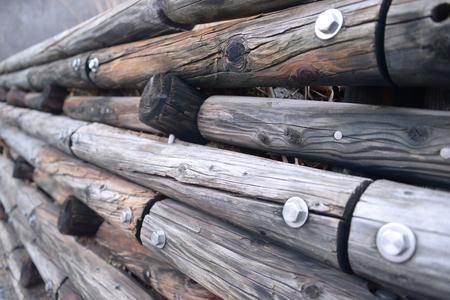 일본의 나무 벽