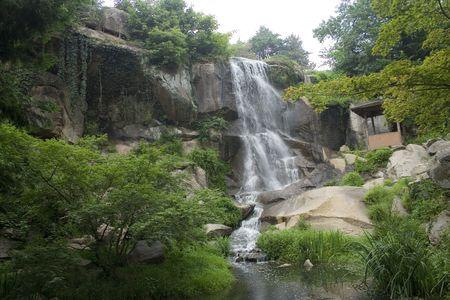 日本庭園の滝 写真素材 - 474570