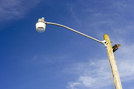 street lamp: Tall street lamp