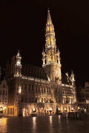 Grand place, Brussels at night photo