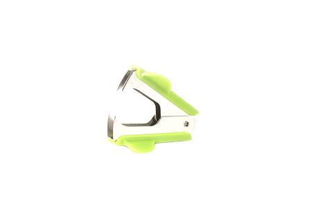 remover: Staple remover on white background Stock Photo