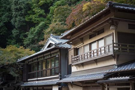 quasi: Old house building in Mino Falls Meiji-no-mori Mino Quasi-national Park Mino Waterfall Minoo Park
