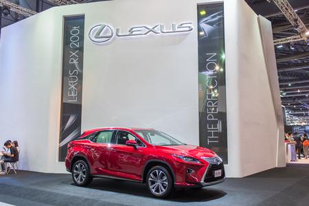 lexus: Bangkok, Thailand - December 3, 2015 : Red lexus car at Thailand International Motor Expo 2015 MOTOR EXPO 2015 on december 3, 2015 in Bangkok, Thailand.