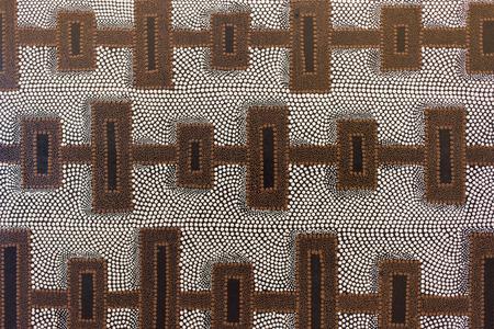 art painting: Block and dot pattern art painting - aboriginal art