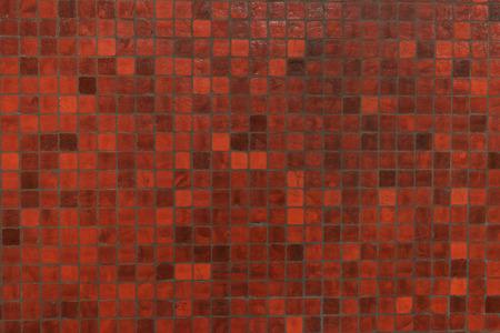 tile: Red mosaics tile wall Stock Photo