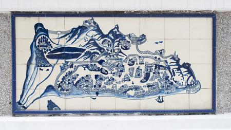 Art drawing on ceramic wall inside of Civic and Municipal Affairs Bureau (IACM) - Leal Senado