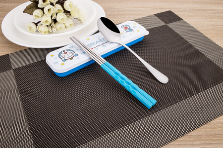 slotted: Stainless steel kitchen utensils Editorial