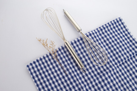 slotted: Stainless steel kitchen utensils Stock Photo