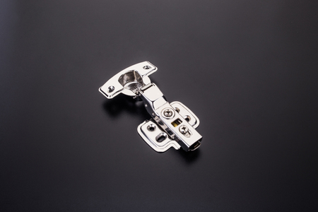 stainless steel hinges Stock Photo