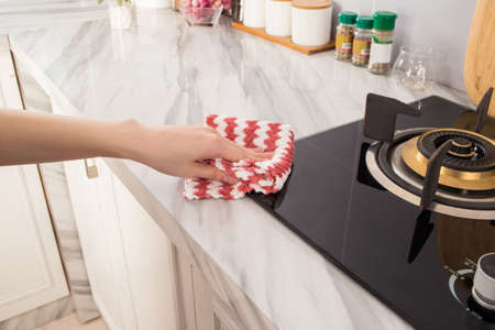 Colorful household dish cloth
