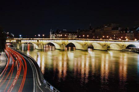 beautiful sight of Paris at night Stock Photo - 4889334