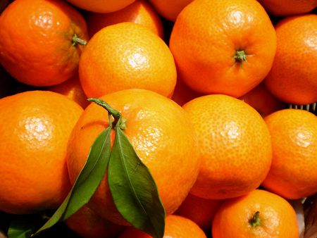 close up view of a mandarines background Stock Photo