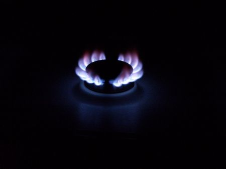 pyre: Natural Gas Flame       Stock Photo