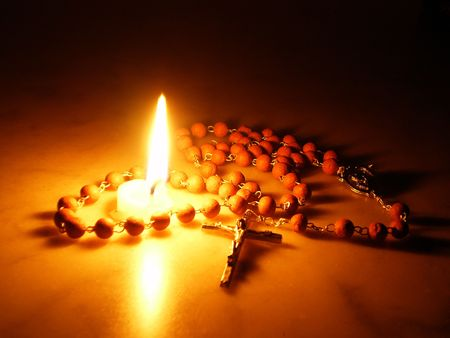 Candel and Rosary          photo