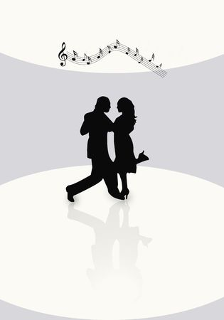 Dancing couple illustration illustration