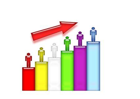 Statistic Staff growth bars photo