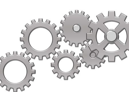Gears on a white background Imagens