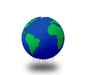 greenhouse effect: Planet earth melting (Greenhouse effect)