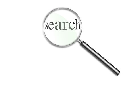 Magnifying glass over the word Search Stock Photo - 6590304