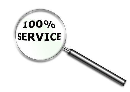 Magnifying glass over the word Service Stock Photo - 6688468
