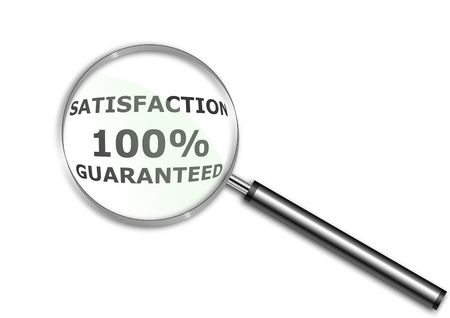 Satisfaction Guaranteed Words in a Magnifying glass Stock Photo - 6688470